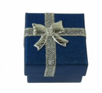 Dárková krabička papírová 4x4cm lesk 9138 Tmavě modrá 9138