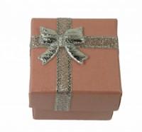 Dárková krabička papírová 4x4cm lesk 9138 Růžová 9138