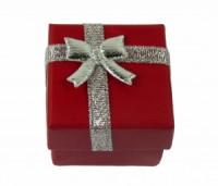 Dárková krabička papírová 4x4cm lesk 9138 Červená 9138