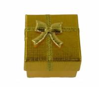 Dárková krabička papírová 4x4cm lesk 9138 Zlatá 9138