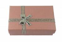Dárková krabička papírová 5x8cm lesk 9105 Růžová 9105