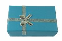 Dárková krabička papírová 5x8cm lesk 9105 Modrá 9105