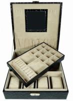 Šperkovnice čtverec velká černá 5500-1 5500-1
