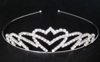 Svatební ozdoba štrasová korunka čelenka 5821-3 5821-3