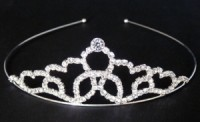 Svatební ozdoba štrasová korunka čelenka 5821-1 5821-1