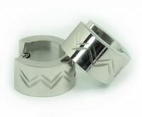 Náušnice kroužky nerezová ocel stříbrné cikcak 32942-6 32942-6