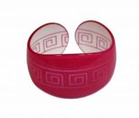 Náramek pevný tvrzený plast řecký motiv 41196 Růžová 41196