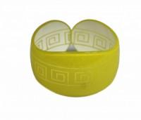 Náramek pevný tvrzený plast řecký motiv 41196 Žlutá 41196