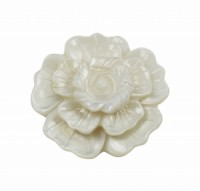 Brož bílá perleť květina 5652 5652