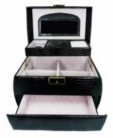 Šperkovnice černá velká zaoblená 5698-2 5698-2