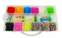 Sada gumiček loom na výrobu náramků v krabičce 16x31x5cm 8053 8053