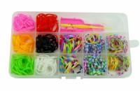 Sada gumiček loom na výrobu náramků v krabičce 17x9x2cm 8051 8051