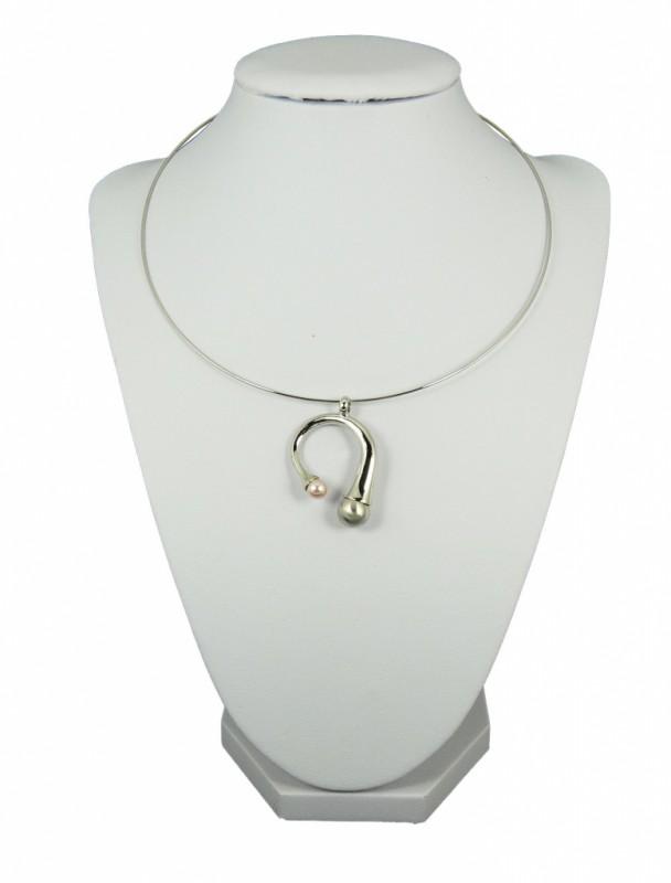 9c9b06fb3 Náhrdelník obruč s perlou 10108 | Bižuterie Kozák