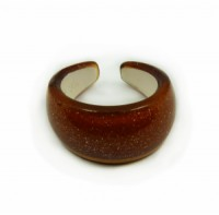 Prsten tvrzený plast 6435 Hnědá 6435